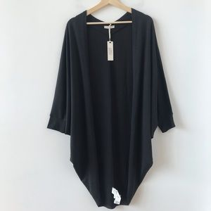 NWT Cotton:On black oversized open front cocoon
